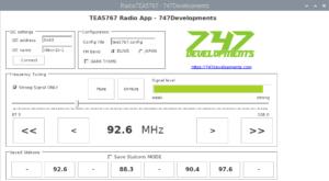 TEA5767 GUI Raspberry Pi